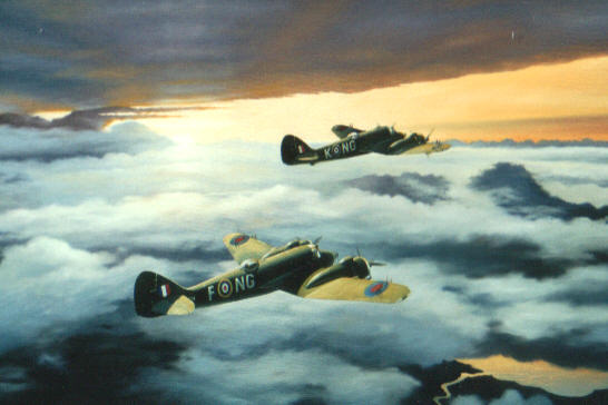 Beaufighters 604 Squadron by Edward Thomas